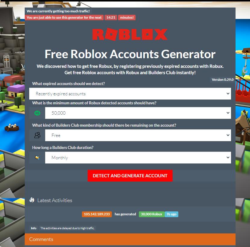 Roblox Free Account Generator 2020 No Human Verification